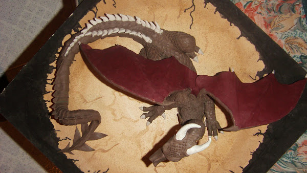Dragon 1 en plastilina
