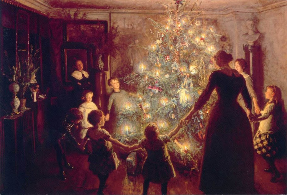 'Round the Christmas Tree' by Viggo Johansen, 1891
