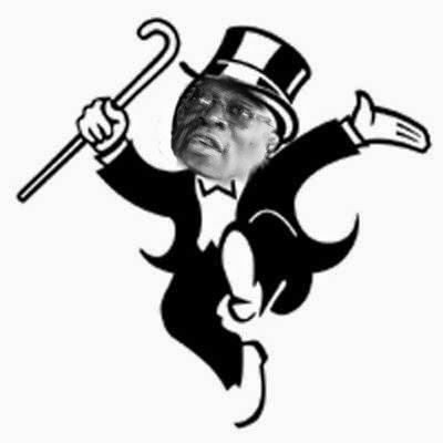 Mr Monopoly Man Holding Money