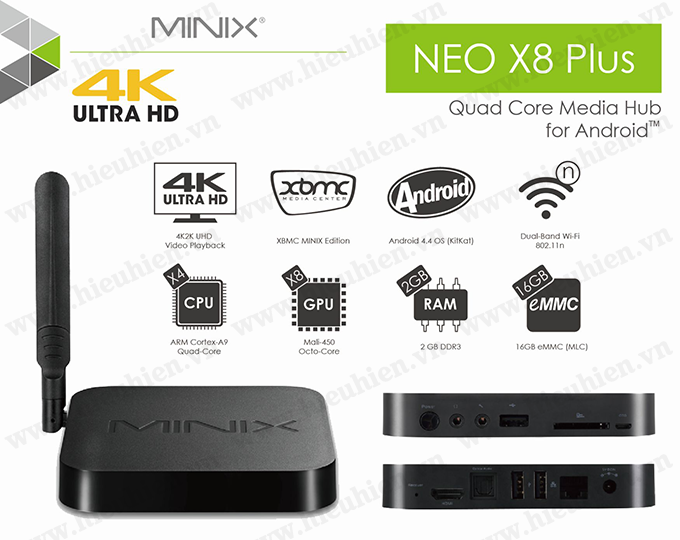 minix neo x8 h plus android tv box amlogic s812 h quad core 02 Spec Sheet
