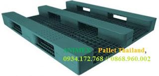 Pallet nhựa mở 3 thanh chặn hàng nặng