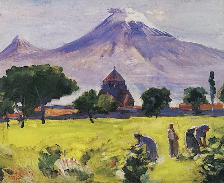Martiros Saryan - Ararat and Saint Hripsime Church, 1945
