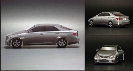 Toyota Mark X Papercraft