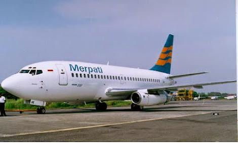 gambar pesawat Merpati Nusantara