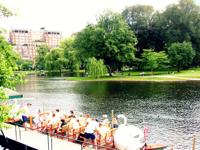 swan boats in boston common