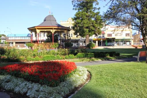 Rotunda and English Flower Garden. Goulburn, Australia