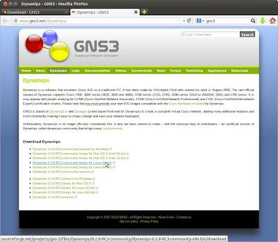 Descarga de paquetes necesarios para instalar GNS3