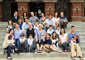 Eight of our nine children plus their (6) spouses and (10)* kids/grand kids