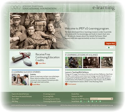 Draft screenshot of our new E-Learning interface