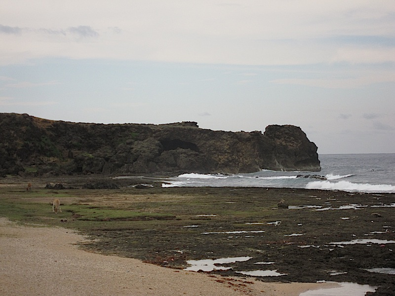 cliffs and rocks along the coast of Burgos, Ilocos Norte