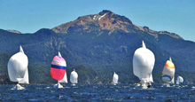 J/24s sailing Argentina's Andes mountain lakes