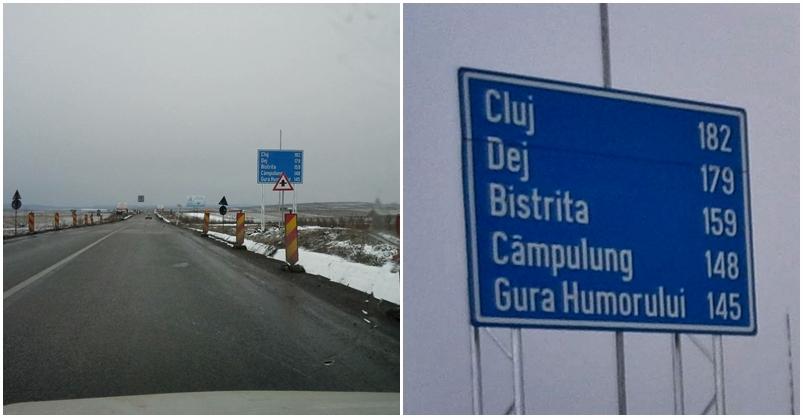 Indicatoare greșite pe DN17, Suceava