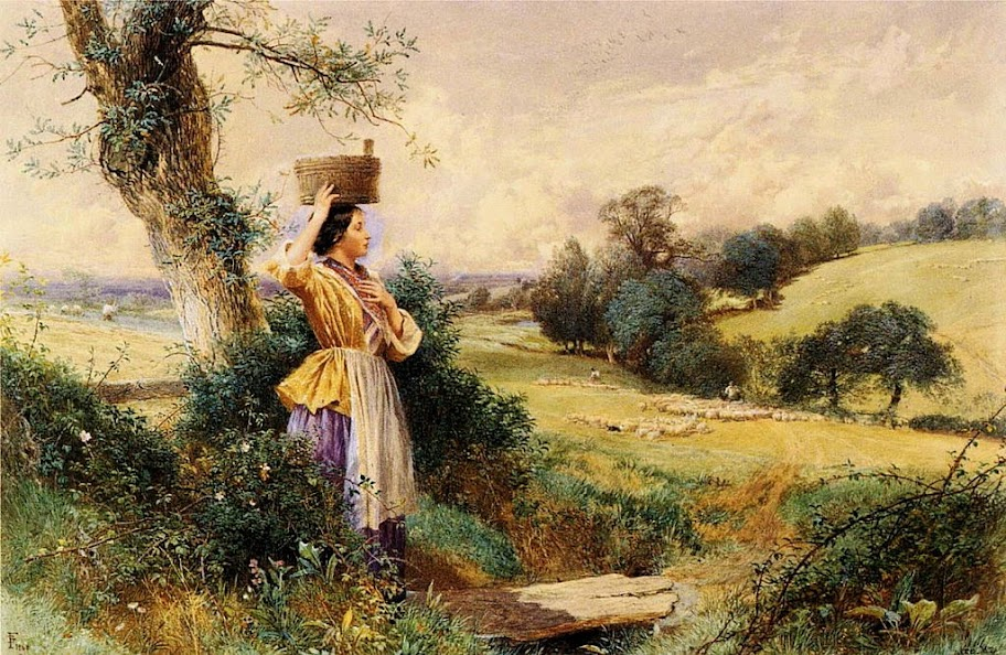 Myles Birket Foster - The Milk-maid