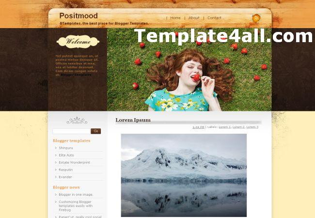 Portfolio Brown Wood Blogger Template