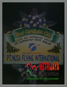 ucapan turut berduka cita dari PT. Nusa Flying International