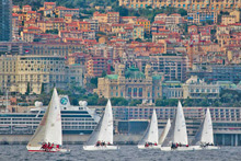 J/24s sailing Europeans off Monaco