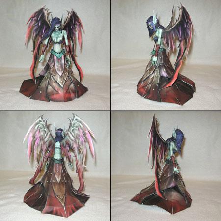 League of Legends Morgana Fallen Angel Papercraft