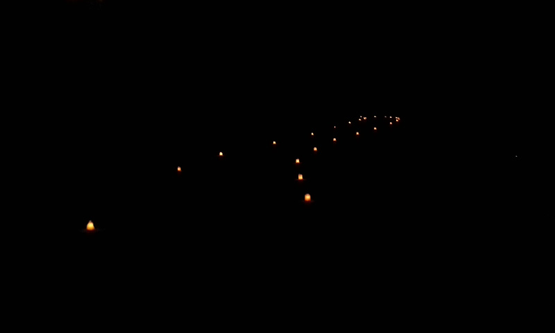 Petra by Night path
