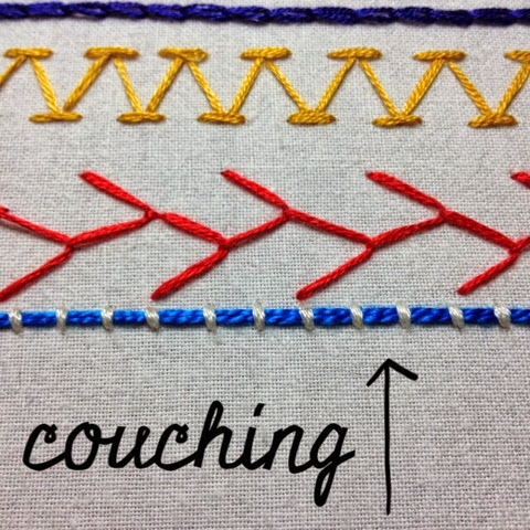 couching stitch