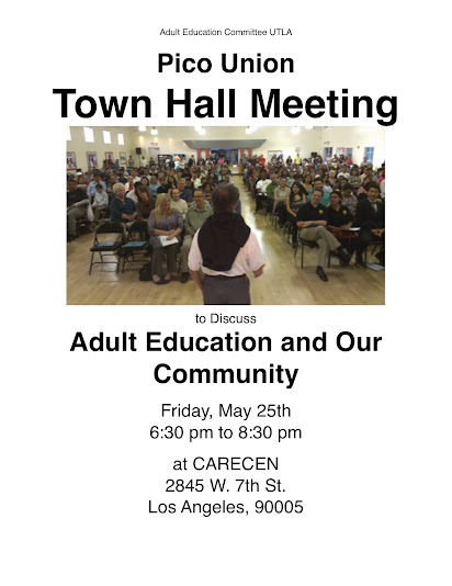 Pico Union Save Adult Education Town Hall!