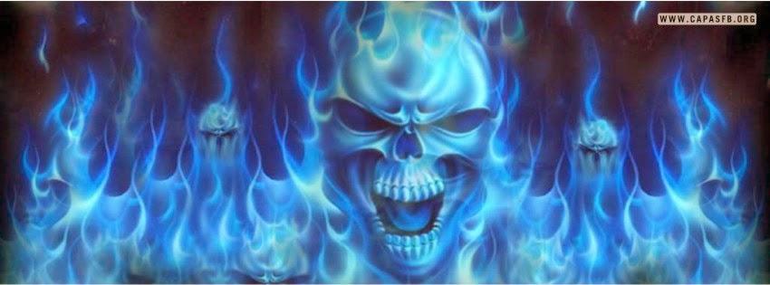 Capas para Facebook Caveira Azul