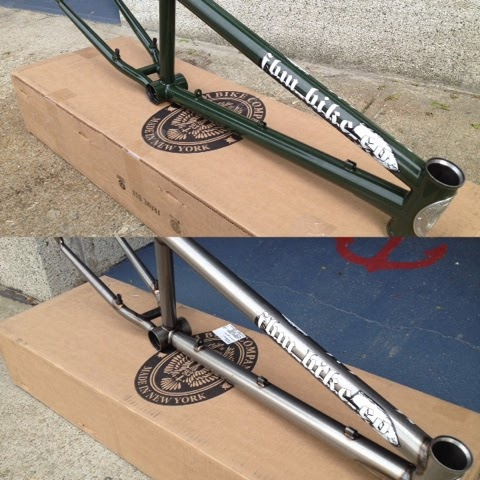 FBM steadfast frame marine green gloss raw circuit bmx