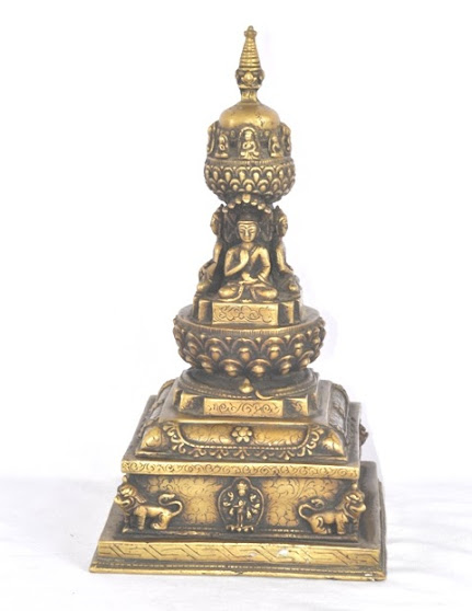 Brass Chaitya of Buddha