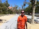 Walking towards the California Science Center