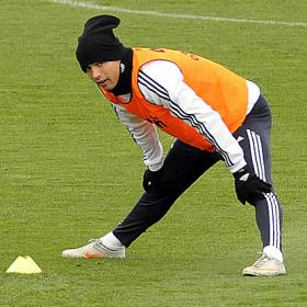 Cristiano training at Valdebebas