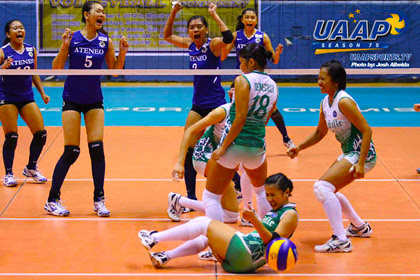 UAAP Season 75 Volleyball La Salle vs. Ateneo Winner Results 02-09-2013   Volleyball   La Salle vs. Ateneo