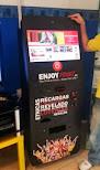 Llamativa máquina vending con la que