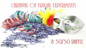 Carnival of Frugal Experiments and 50/50 Raffle