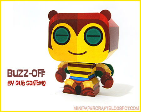 Mini Buzz-Off Papercraft