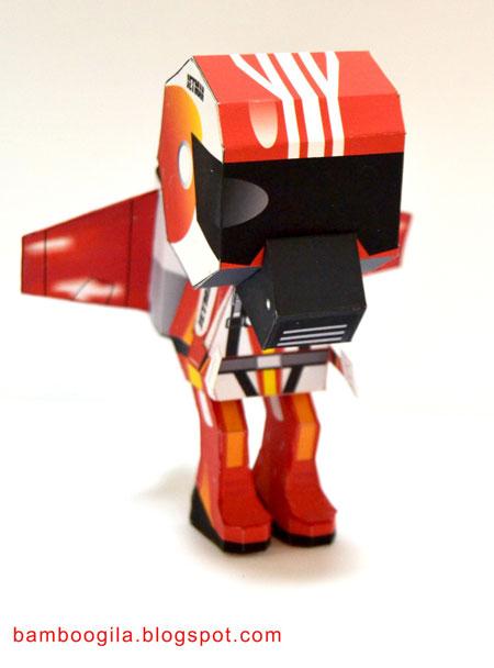 Jetman Paper Toy