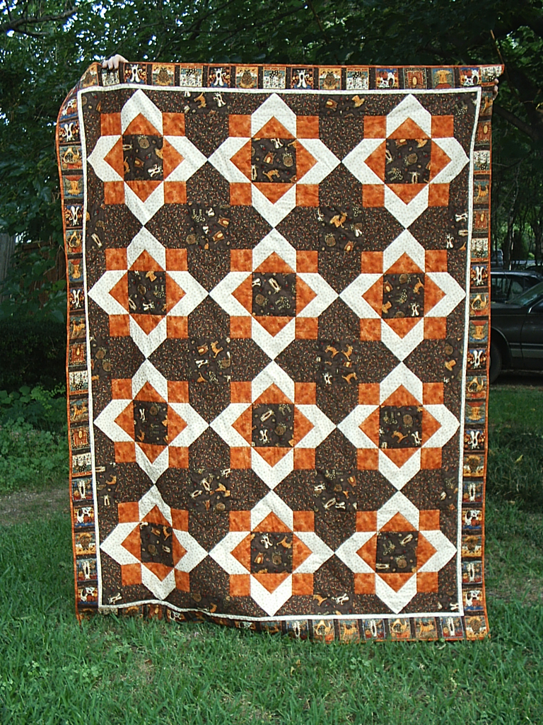 The thinker alias grace as you can see the overall pattern belies the simplicity of each individual square quilts patterns are always double they look one way if you focus on biocorpaavc Image collections