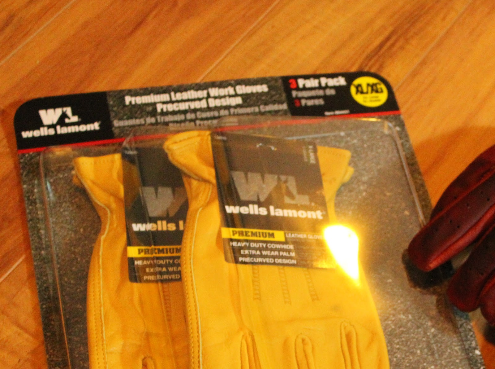 Deer hide leather work gloves - Nice Deerhide Leather Work Gloves In Threepacks From Costco So I Grabbed A Pair Of Scissors And A Hole Punch And Started Changing Them From Workgloves
