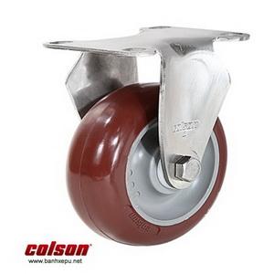 Bánh xe đẩy inox vật liệu bánh xe PU đỏ | 2-4408-944