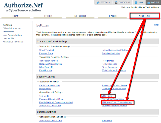 Authorize.net Security