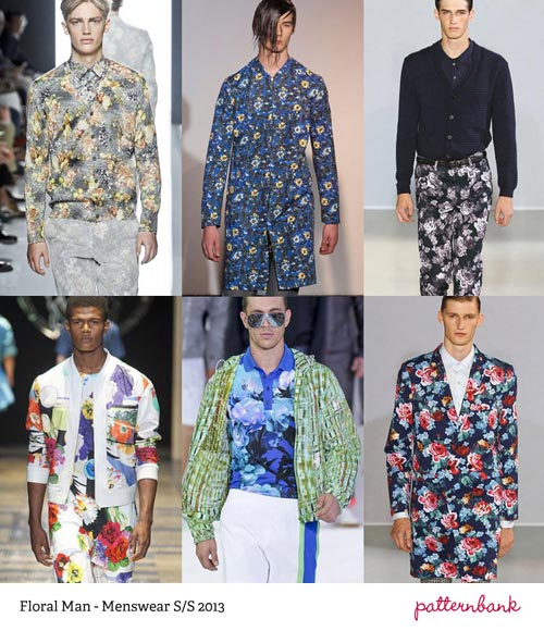 Textile Print Men's Trends S/S 2016: Patternbank