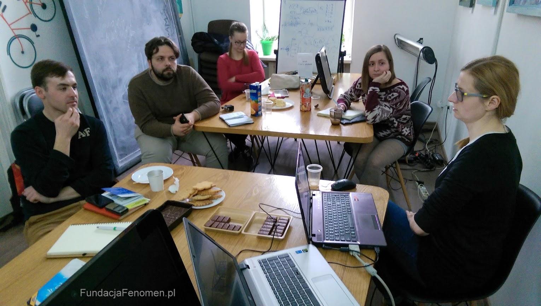 Spotkanie przedstawicieli naszej fundacji z członkami Lwowskiego Stowarzyszenia Rowerzystów.
