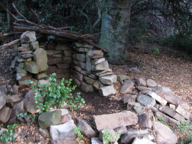rocks stacked makes a root cellar