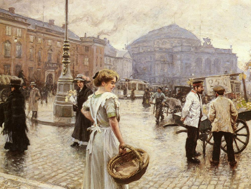 Paul Gustave Fischer - A View Of Kongens Nytorv, Copenhagen