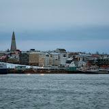Kig ind over Reykjavik fra havnen