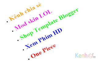 Ẩn dấu chấm ở label trong blogspot