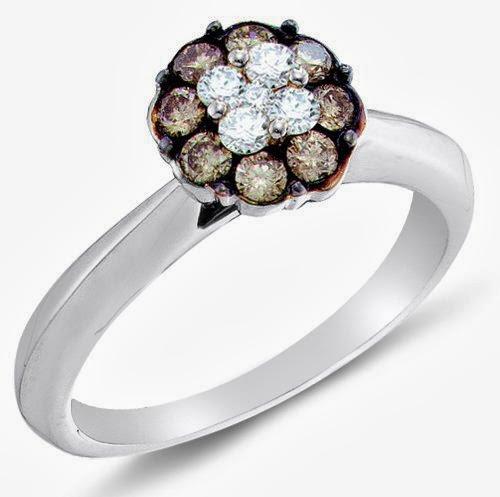 Chocolate Diamond Engagement Rings