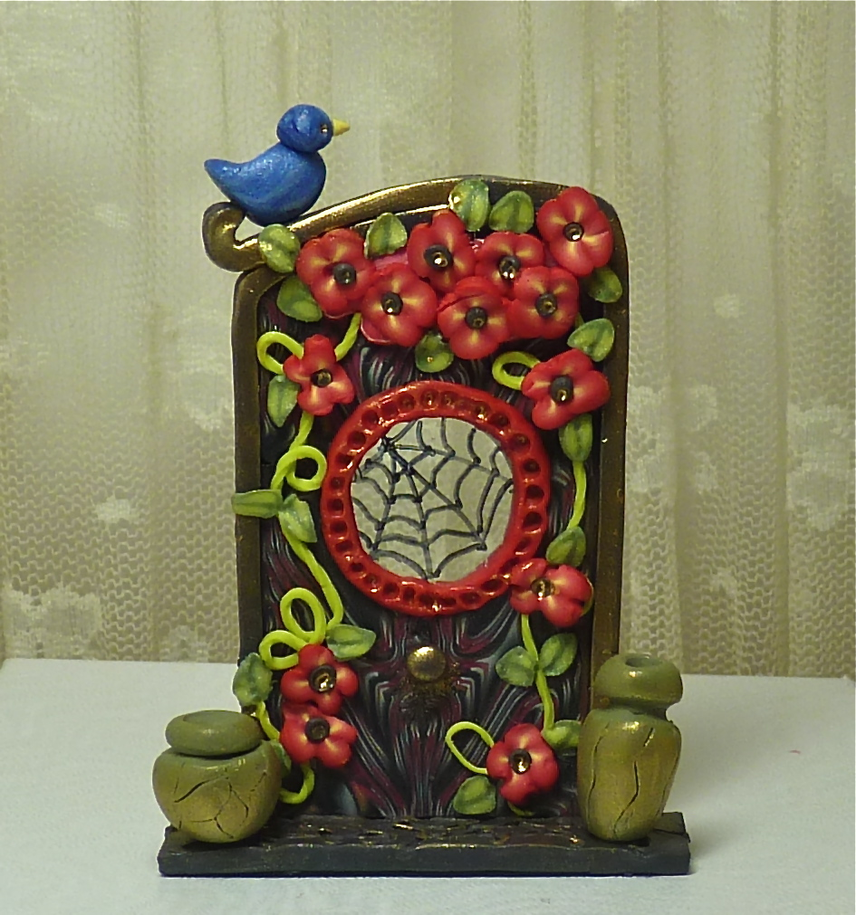 Knightwork playing with clay polymer clay fairy door and for Works elf door