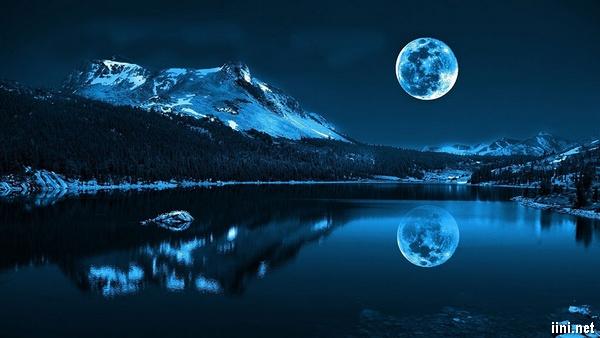 ảnh ánh trăng soi bóng dưới mặt nước