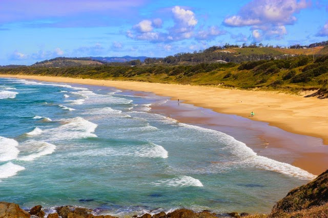 deserted golden beach, Red Rock, Australia