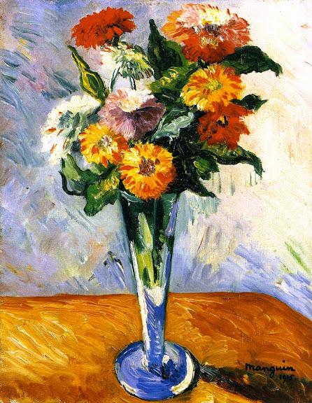 Henri-Charles Manguin - Flowers , 1915