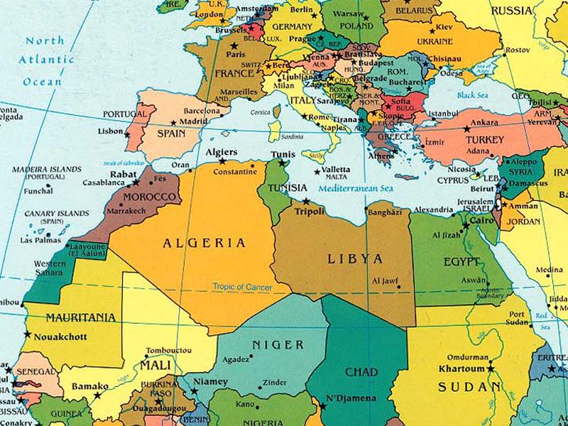 Cartina Nord.Nord Africa Cartina Geografica